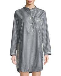 Morpho + Luna - Tess Striped Wool Sleepshirt - Lyst