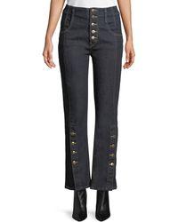 Jonathan Simkhai - E-cig Rinsed Denim Button-fly Jeans - Lyst