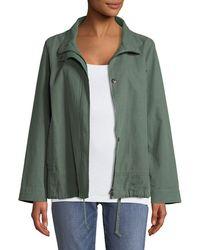 Eileen Fisher - Organic Cotton-hemp A-line Jacket - Lyst