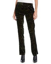 Pam & Gela - Side-stripe Camo-print Velour Track Pants - Lyst