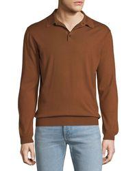 Ermenegildo Zegna - Men's Long-sleeve Polo Shirt - Lyst