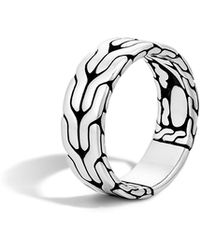 John Hardy - Classic Chain Band Ring - Lyst