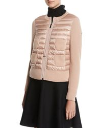 Moncler - Maglia Combo Waffle-knit Puffer Jacket - Lyst