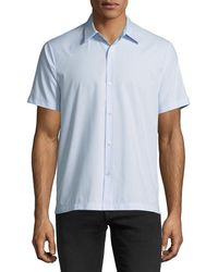 Theory - Piqué Short-sleeve Sport Shirt - Lyst