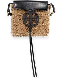 Tory Burch - Miller Straw Crossbody Bag - Lyst