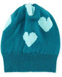 Rosie Sugden - Cashmere Heart Beanie Hat - Lyst