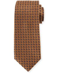 Isaia - Bricks Silk Tie - Lyst