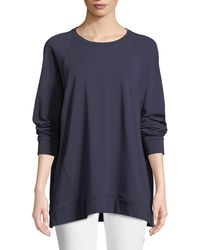 Eileen Fisher - Slubby Organ Cotton Jersey Box Top - Lyst