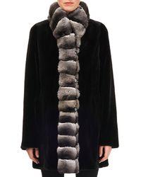 Gorski - Sheared Mink-fur Reversible Coat W/ Chinchilla-fur Tuxedo - Lyst