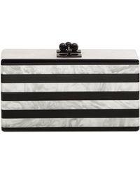 Edie Parker - Jean Confetti-striped Box Clutch Bag - Lyst