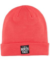 The North Face - Men's Dock Worker Fold-over Beanie Pink - Lyst