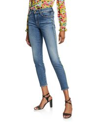 e8175f47d1df4 7 For All Mankind Jeans Neon Skinny Jeans in Citron in Blue - Lyst