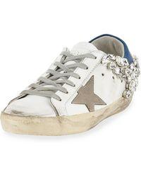 Golden Goose Deluxe Brand - Superstar Embellished Star Sneaker - Lyst