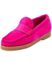 Stuart Weitzman - Bromley Shearling Fur Loafers - Lyst