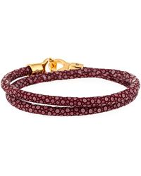 Brace Humanity - Men's Stingray Wrap Bracelet Dark Red - Lyst