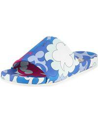 Emilio Pucci - Jacquard Pool Slide Sandals - Lyst