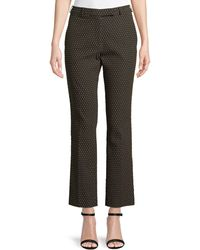 Etro - Straight-leg Textured Dobby Cropped Pants - Lyst