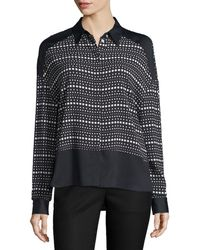 CoSTUME NATIONAL - Long-sleeve Dot-striped Shirt - Lyst