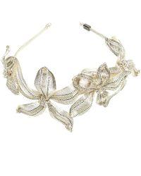 Colette Malouf - Mesh Crystal Botanical Headband - Lyst