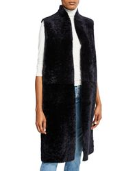 Gushlow and Cole - Reversible Leather & Shearling Extra-long Vest - Lyst