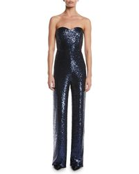Saloni - Aurelie Jumpsuit In Blue - Lyst