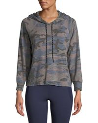Sundry - Camo-print Cropped Pullover Hoodie - Lyst
