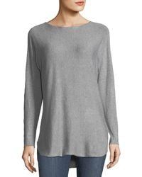 Metric Knits - High-low Boat-neck Sweater - Lyst