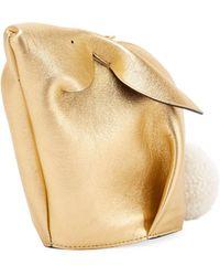 Loewe - Bunny Mini Metallic Crossbody Bag - Lyst