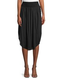 Halston Heritage | Ruched Knee-length Skirt | Lyst