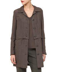 Akris - Button-front Ajoure Silk Cotton Jacket With Detachable Hem - Lyst