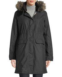 Barbour - Galloway Waxed Jacket W/ Detachable Faux-fur Hood - Lyst
