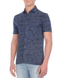 Isaia - Floral-print Short-sleeve Sport Shirt - Lyst