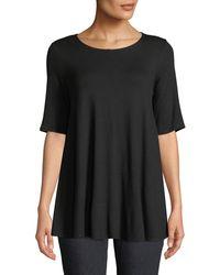 Eileen Fisher - Short-sleeve Jersey Tunic - Lyst