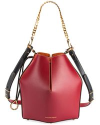 Alexander McQueen - The Bucket Colorblock Shiny Calf Bucket Bag - Lyst