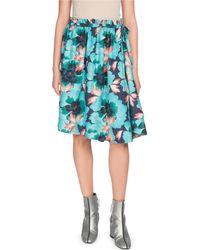 KENZO - Floral Flared Mini Skirt - Lyst