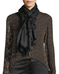 Roberto Cavalli - Jaguar Jacquard Silk/wool Scarf - Lyst