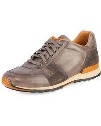 Neiman Marcus - Men's Retro Leather Running Sneakers - Lyst