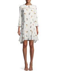 Shoshanna - Michie Floral Crepe A-line Dress - Lyst