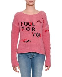 Ermanno Scervino - Fool For You Intarsia Long-sleeve Cashmere Sweater - Lyst
