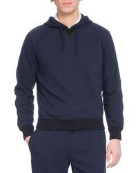 Berluti - Hooded Pullover Hoodie Sweatshirt With Leather Trim - Lyst