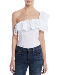 Kendall + Kylie - One-shoulder Ruffle Bodysuit - Lyst