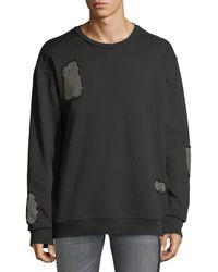 Just Cavalli - Stud-patch Crewneck Sweatshirt - Lyst