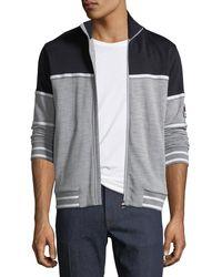 Z Zegna - Tricolor Zip-front Sweater - Lyst