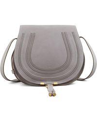 Chloé   Marcie Medium Leather Crossbody Bag   Lyst