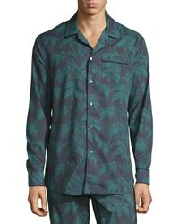 Desmond & Dempsey - Men's Byron Palm Leaf-print Lounge Shirt - Lyst
