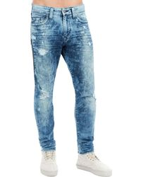 True Religion | Mick Distressed Slim-straight Jeans | Lyst