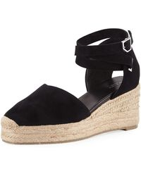 536eadf313e Lyst - Rag & Bone Kea Platform Wedge Espadrilles in Black
