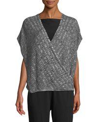 Eileen Fisher - Silk-blend Cap-sleeve Sweater - Lyst
