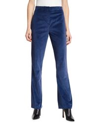 Rag & Bone - Margaret Velvet Straight-leg Pants - Lyst