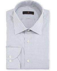 Ike Behar - Gold Label Check Cotton Dress Shirt - Lyst